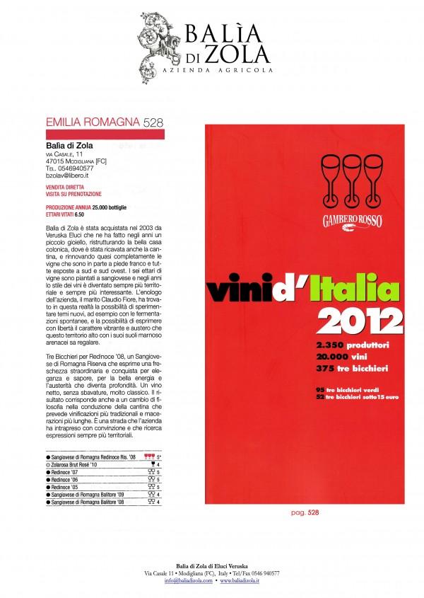Tre Glasse 2012 | Gambero Rosso