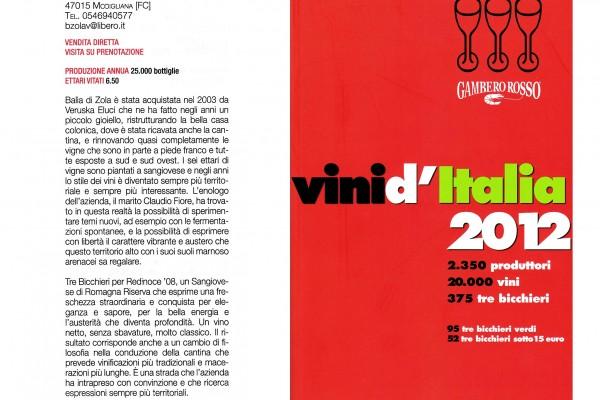 Gambero Rosso – Tre Biccchieri 2012